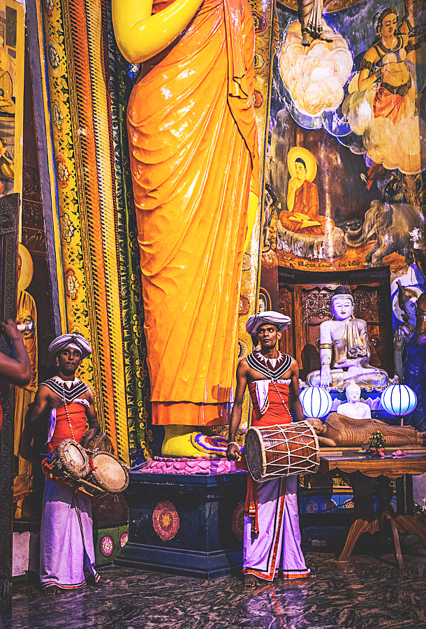Drummers in the Gangaramaya Temple, Colombo #2 by Son of the Morning Light on 500px.com