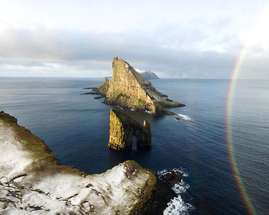 double rainbow. drangarnir. vagar. faroe islands. by Tanner Wendell Stewart on 500px.com