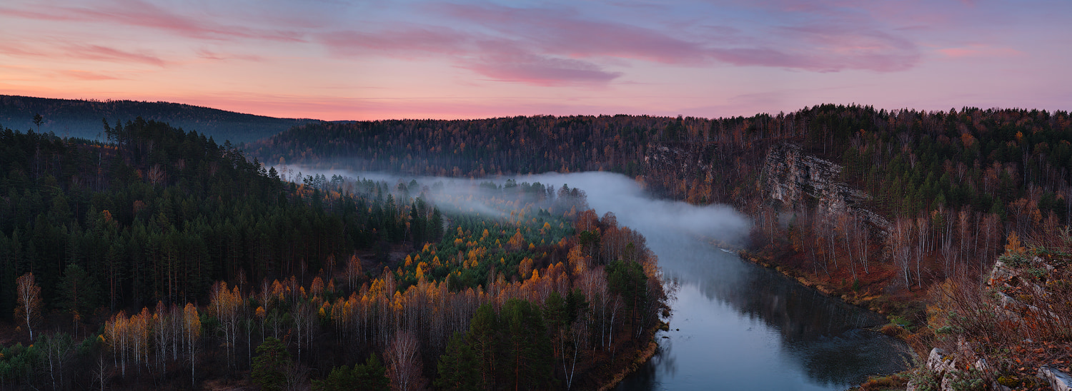 Photograph in the fire of dawn, in the river fog by Marat Akhmetvaleev on 500px