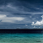 A daylight view from Te-amo Beach. Bonaire.