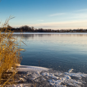 Winter lake by Johnny Hansen (johnnyh1)) on 500px.com