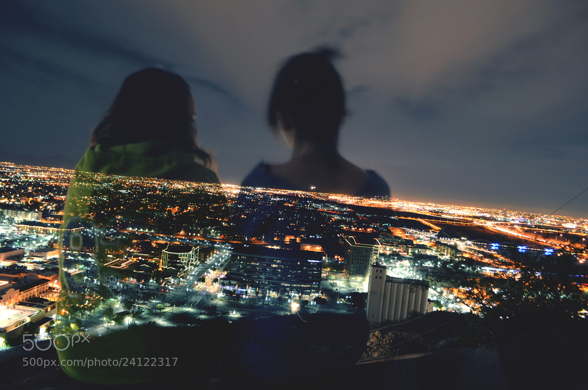 Photograph night above the city by Charity Holm on 500px