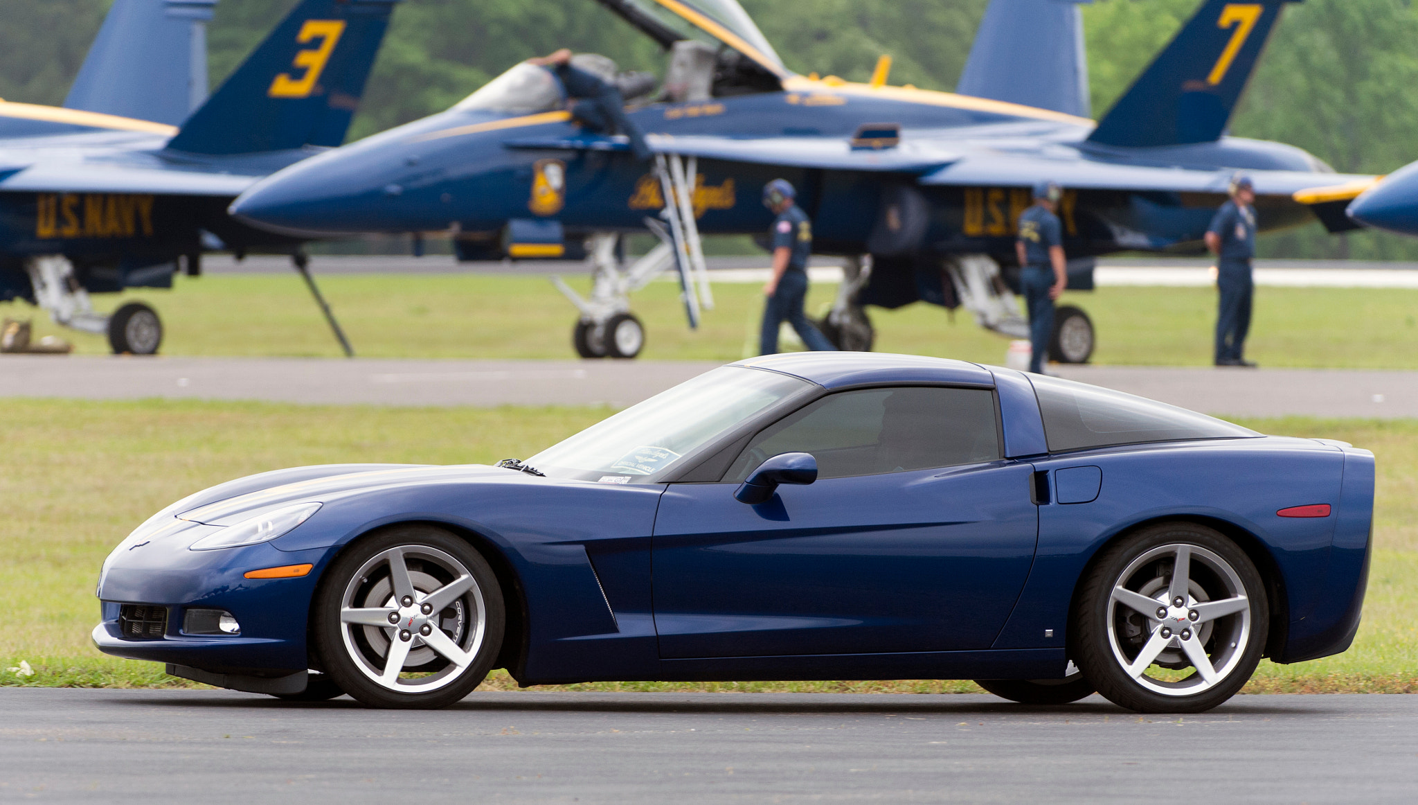Photograph Blue Angel Vette by Clifford Martin on 500px