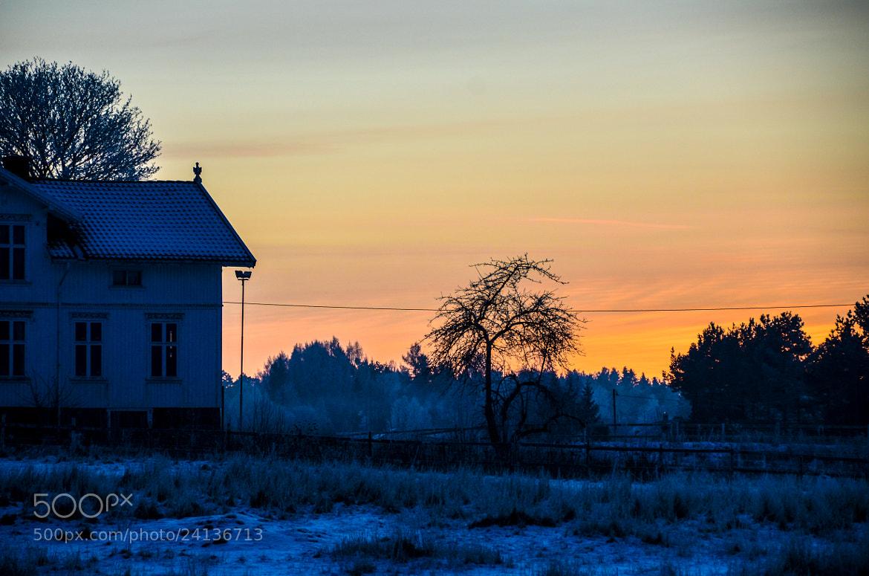 Photograph Winter fire by Gunnar Sommerfeldt on 500px