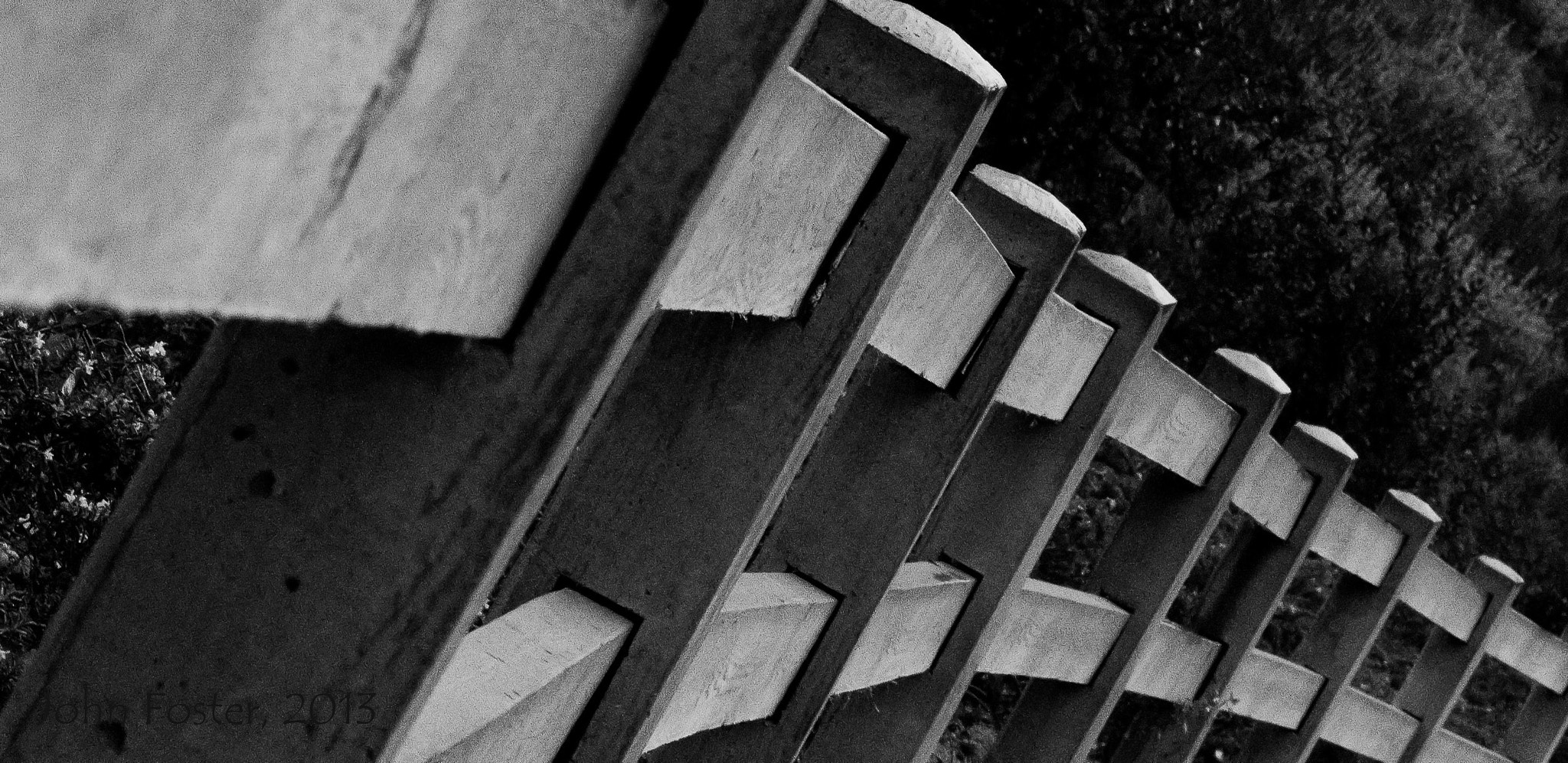 Photograph Fence posts, bent by John Foster on 500px