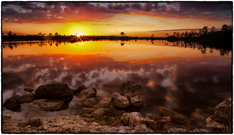 Photograph Afternoon by the Lake-  #2- sunset by Gema Saiz Fine Art Photography on 500px