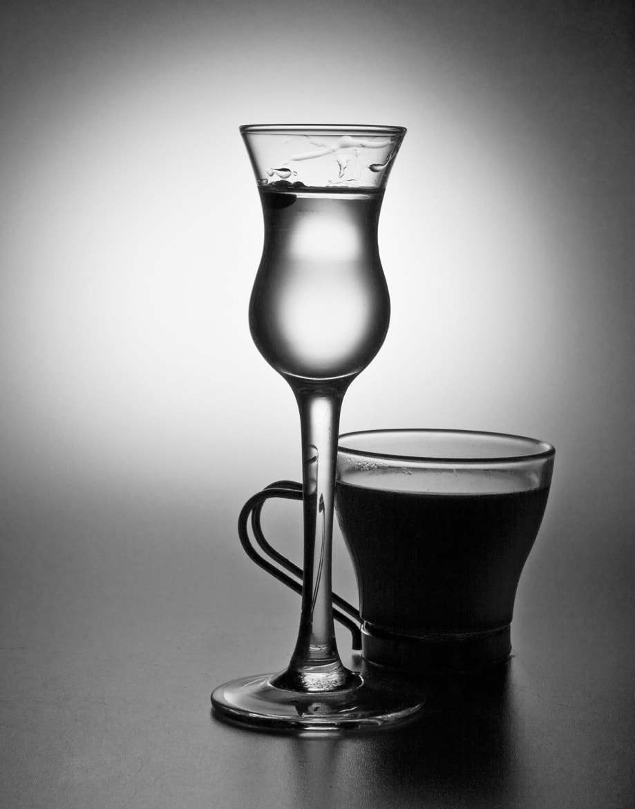 Photograph Espresso and Cordial in B&W by John Hoey on 500px