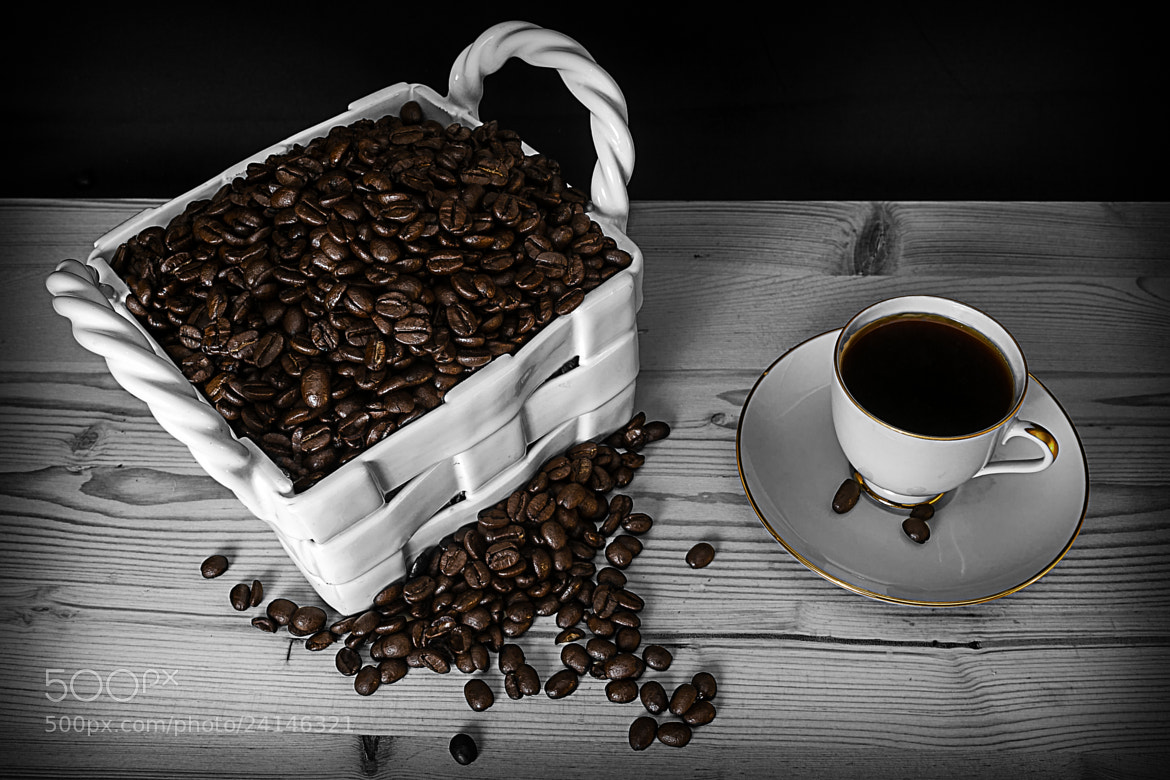 Photograph Coffee beans into cup  by Jon Gretarsson on 500px