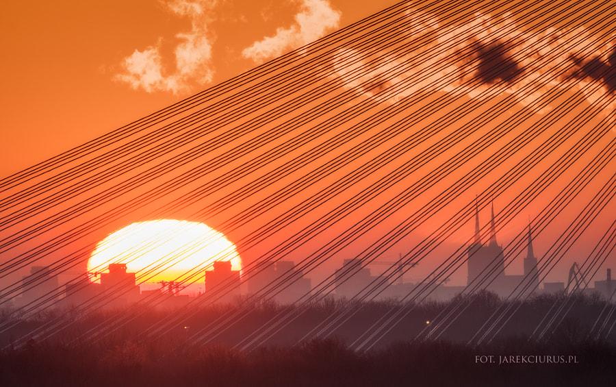 Fireball over the city