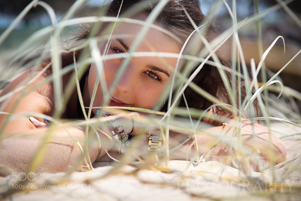 Photograph Girl in the dunes by Tim McGuire on 500px