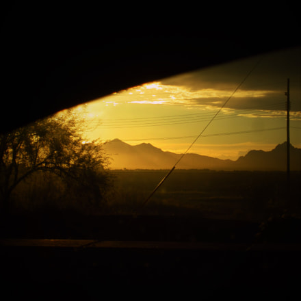 Car window sunset in, Canon POWERSHOT ELPH 300HS