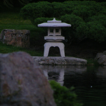 Stone Lantern on the, Fujifilm FinePix S5800 S800