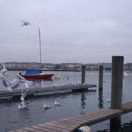 Un bateau rouge, Canon EOS 500D, Canon EF-S 24mm f/2.8 STM