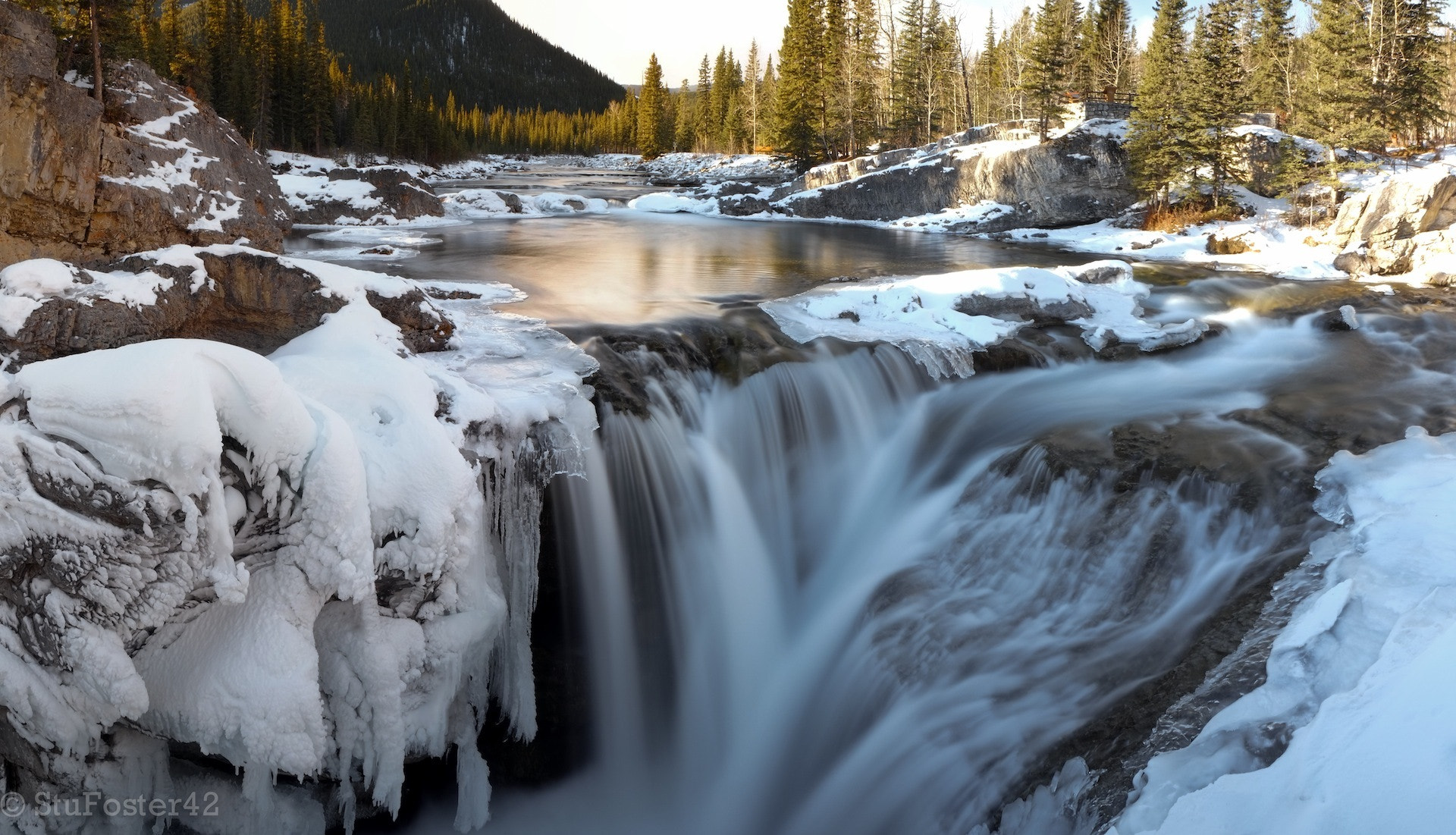 Photograph Elbow Falls Panorama by Stuart Foster on 500px