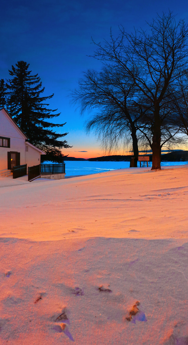 Photograph BoatHouse View at Sunset by Matt H on 500px