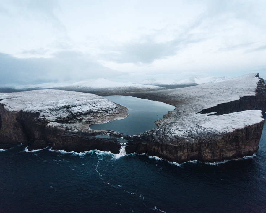 above sørvágsvatn. faroe Islands. Flying above the ... by Tanner Wendell Stewart on 500px