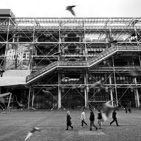 Pompidou in B/W by Andrea Sosio (andreasosio)) on 500px.com