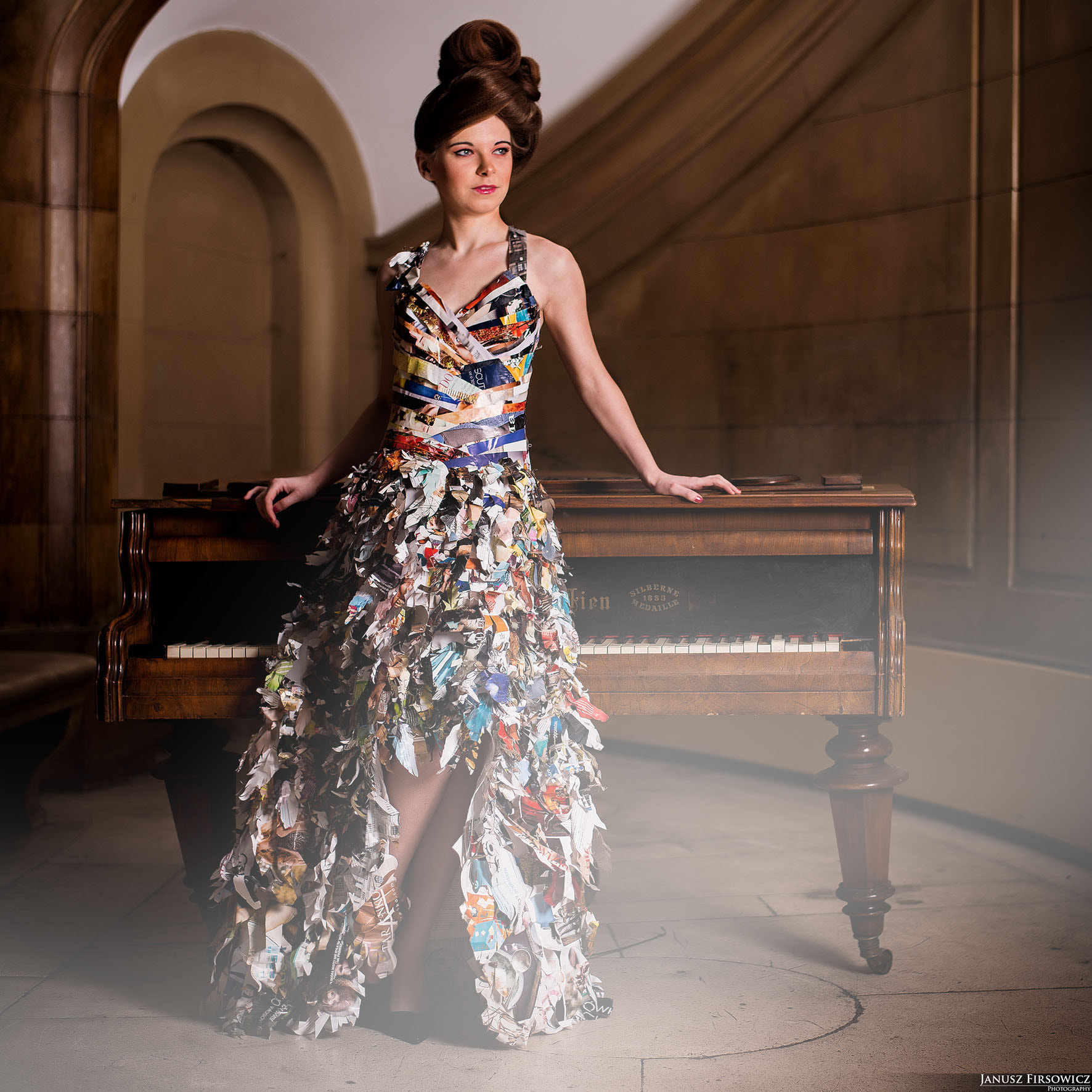 Photograph Newspaper dress by Janusz Firsowicz on 500px