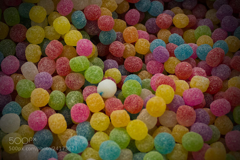 Photograph five color ball candy by fuu jin on 500px