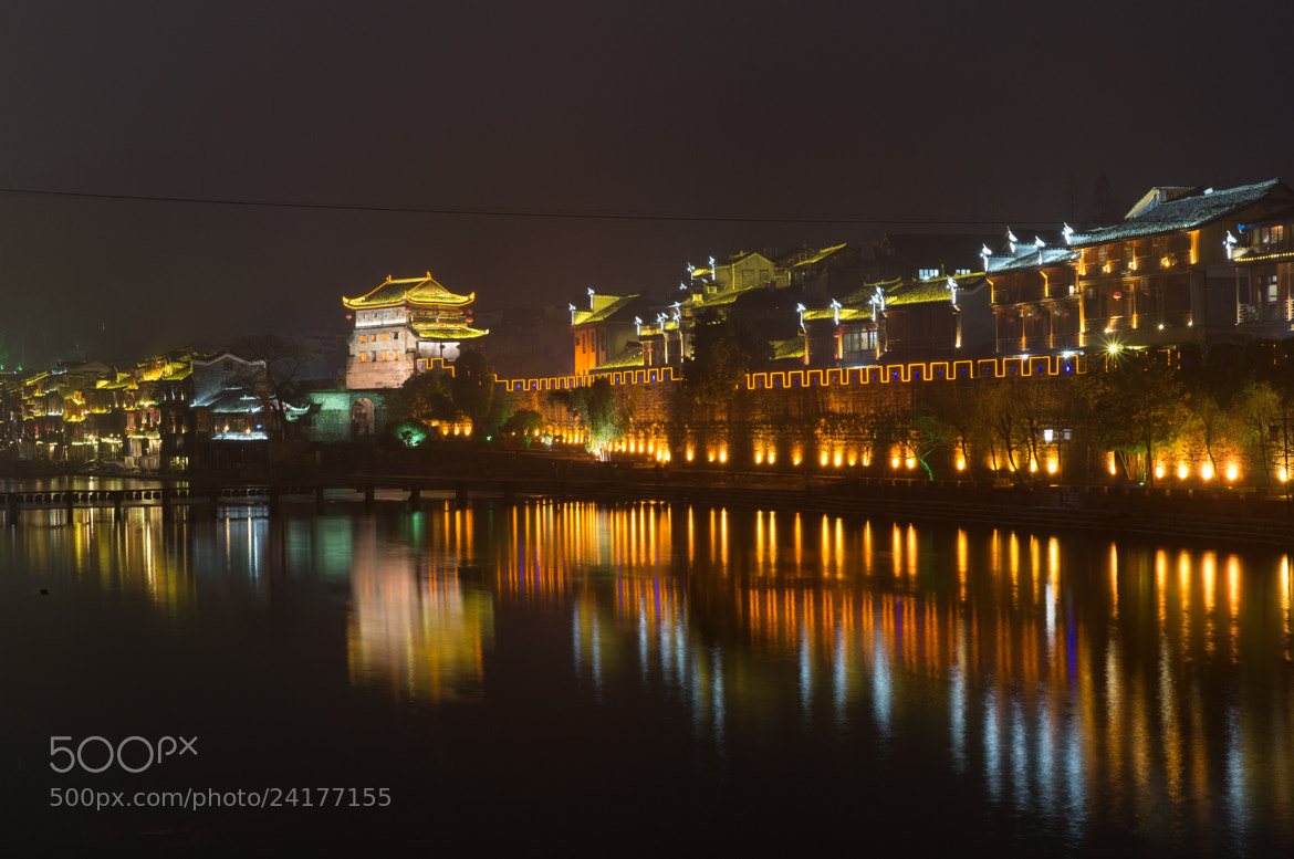 Photograph Night View of North Gate Tower, Fenghuang by JunLe Li on 500px