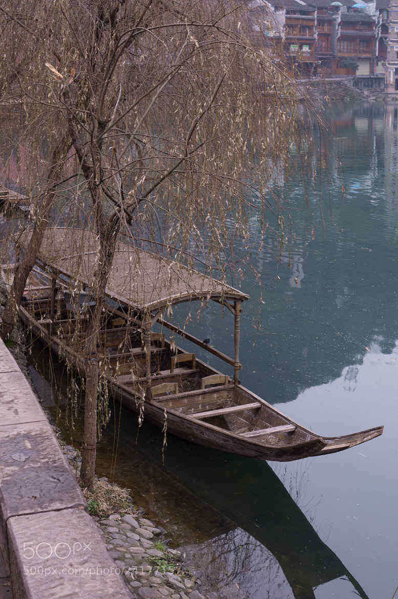 Photograph Tree and Boat in Fenghuang by JunLe Li on 500px