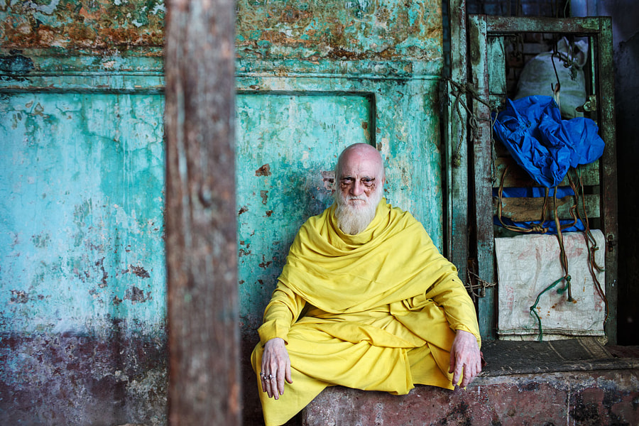 Man in Yellow - Varanasi, India by Maciej Dakowicz on 500px.com