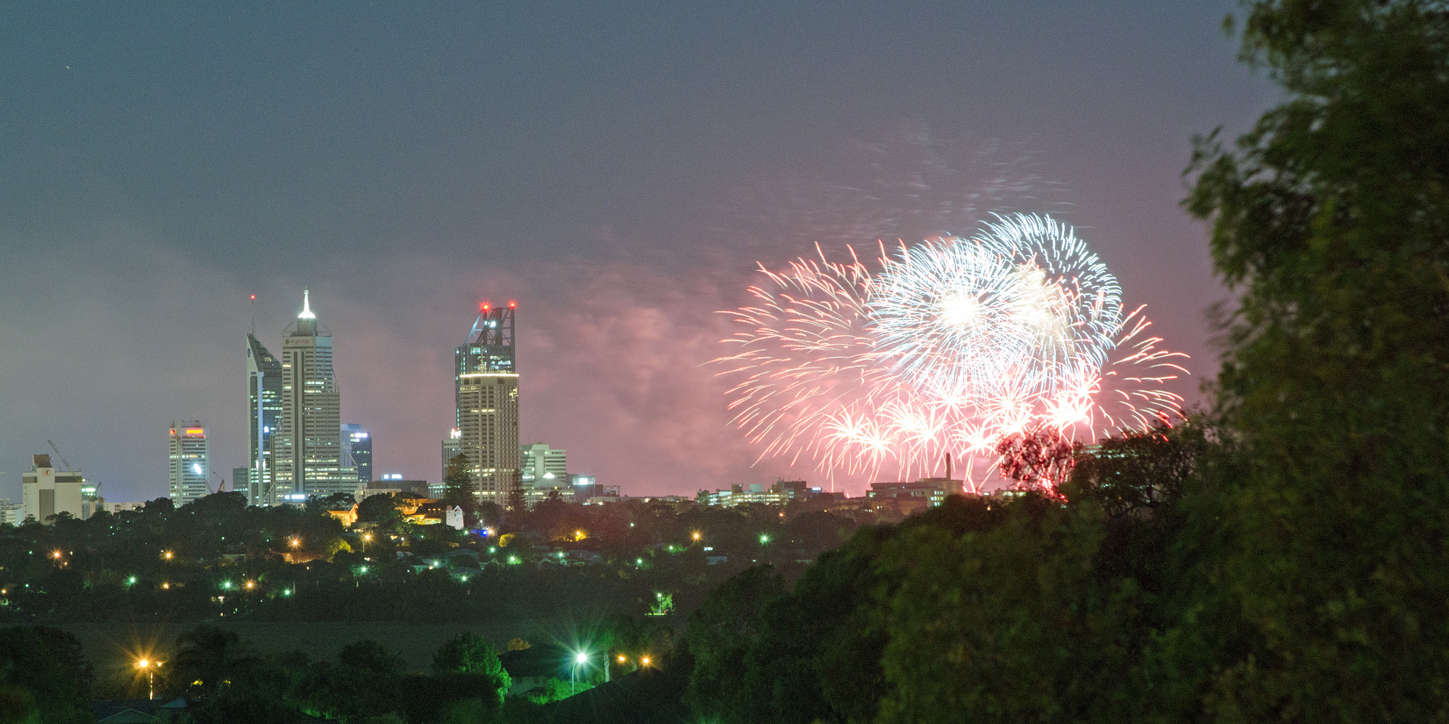 Photograph Australia Day fireworks in Perth by Peter Field on 500px