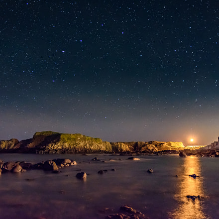Light Under The Stars At Ballintoy