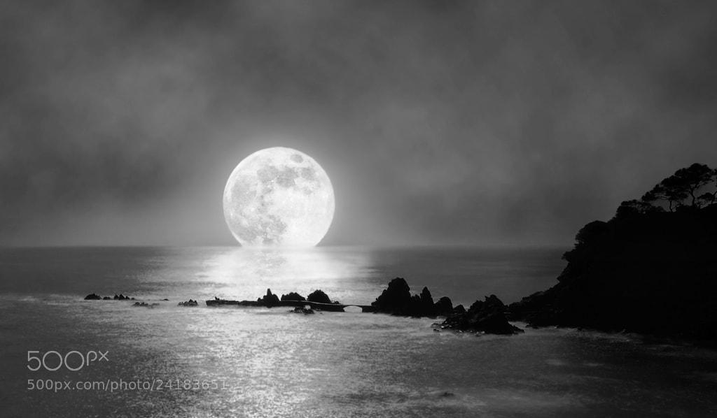 Photograph Moon over the bridge by Ricard  Ametller Saula on 500px
