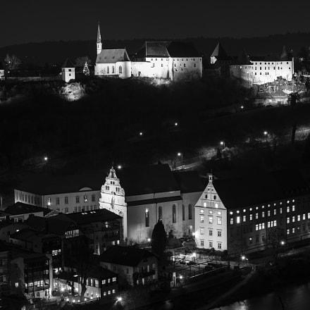 Burg Burghause @ night_b&w_#1