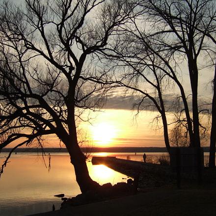 Seneca Lake SP sunset, Fujifilm FinePix F10