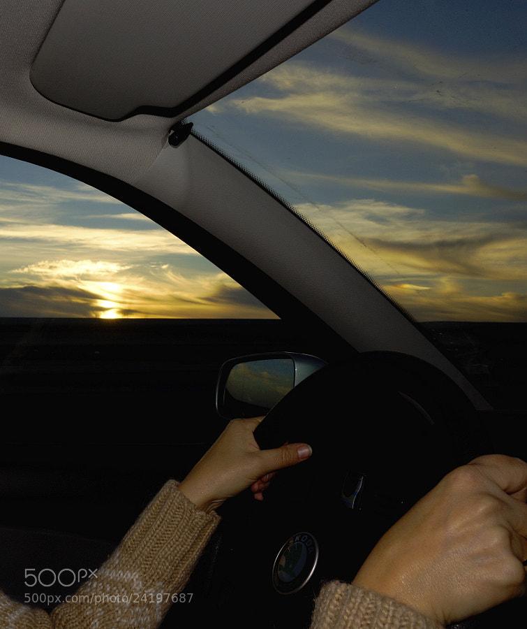 Photograph Sunset drive girl by José Antonio Fontal Álvarez on 500px
