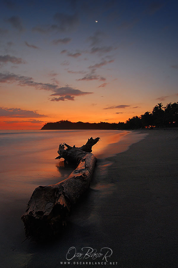 Photograph Sunset in Playa Samara, Guanacaste, Costa Rica by Oscar Blanco MicroMacroPhoto.com on 500px