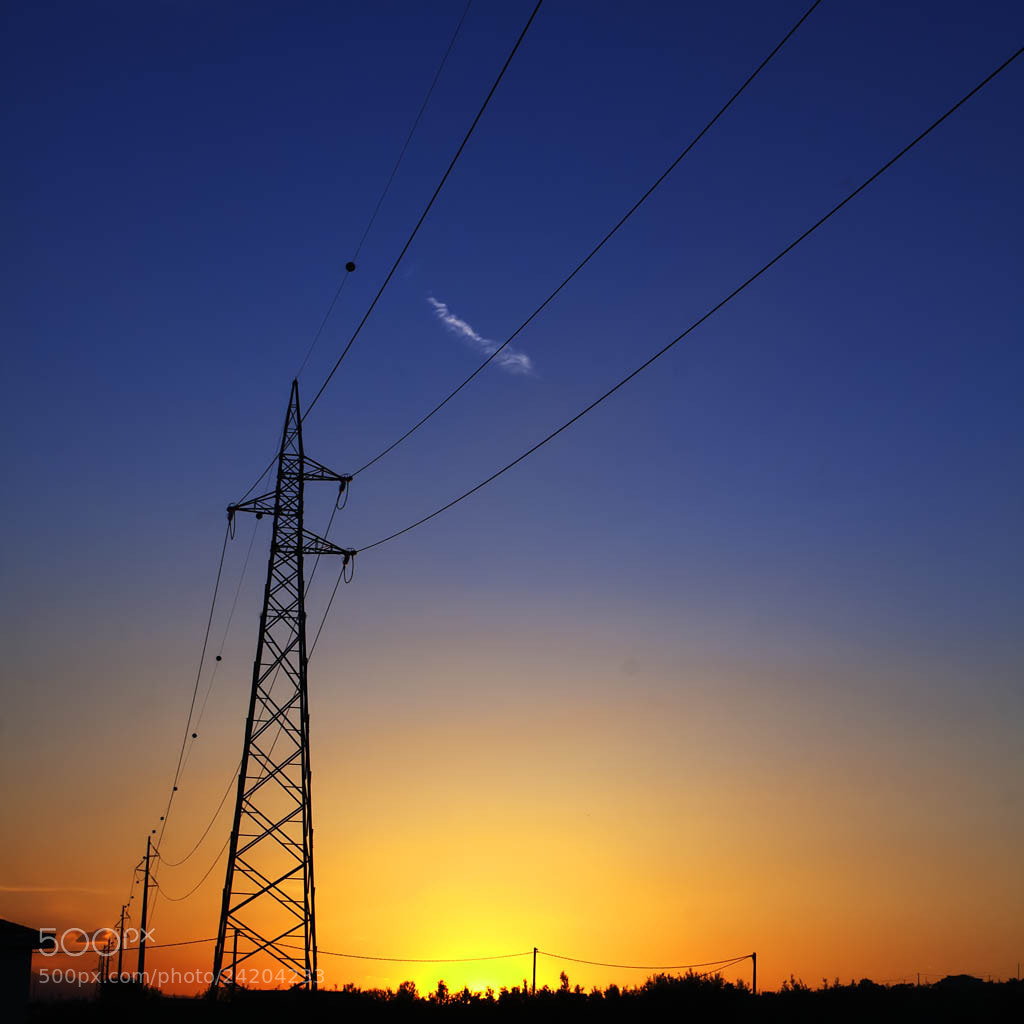 Photograph Electrical sunset by Giuseppe Mosca on 500px