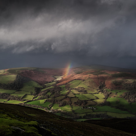 Rainbow over Sugar Loaf, UK.