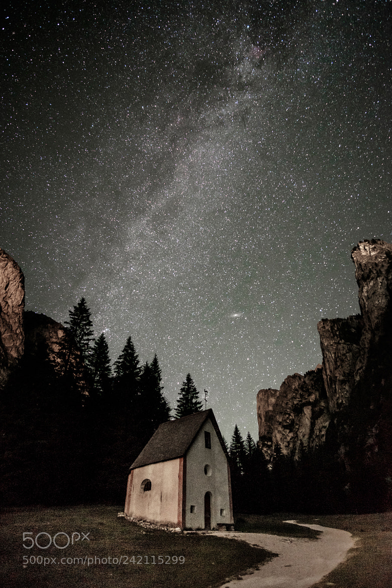 Chapel Under Milky Way