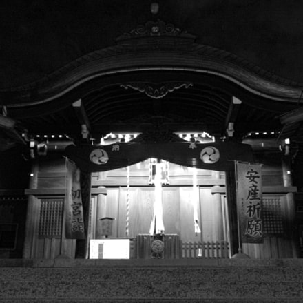 Shrine at Night, Pentax K-X, Sigma 17-70mm F2.8-4.0 DC Macro OS HSM