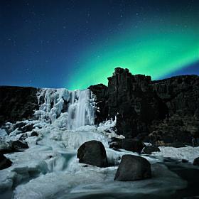 Aurora at Þingvellir by Hrannar Hauksson (Hauxon)) on 500px.com