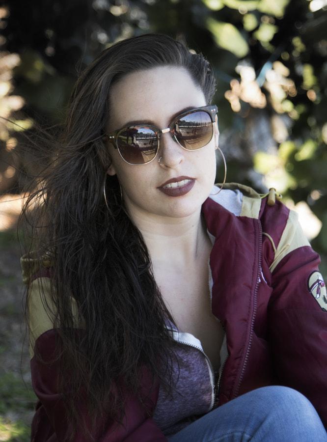 portrait with sunglasses