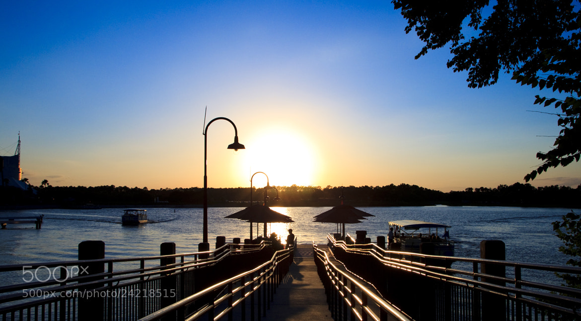 Photograph Downtown Disney Sunset by Emma Samuel on 500px