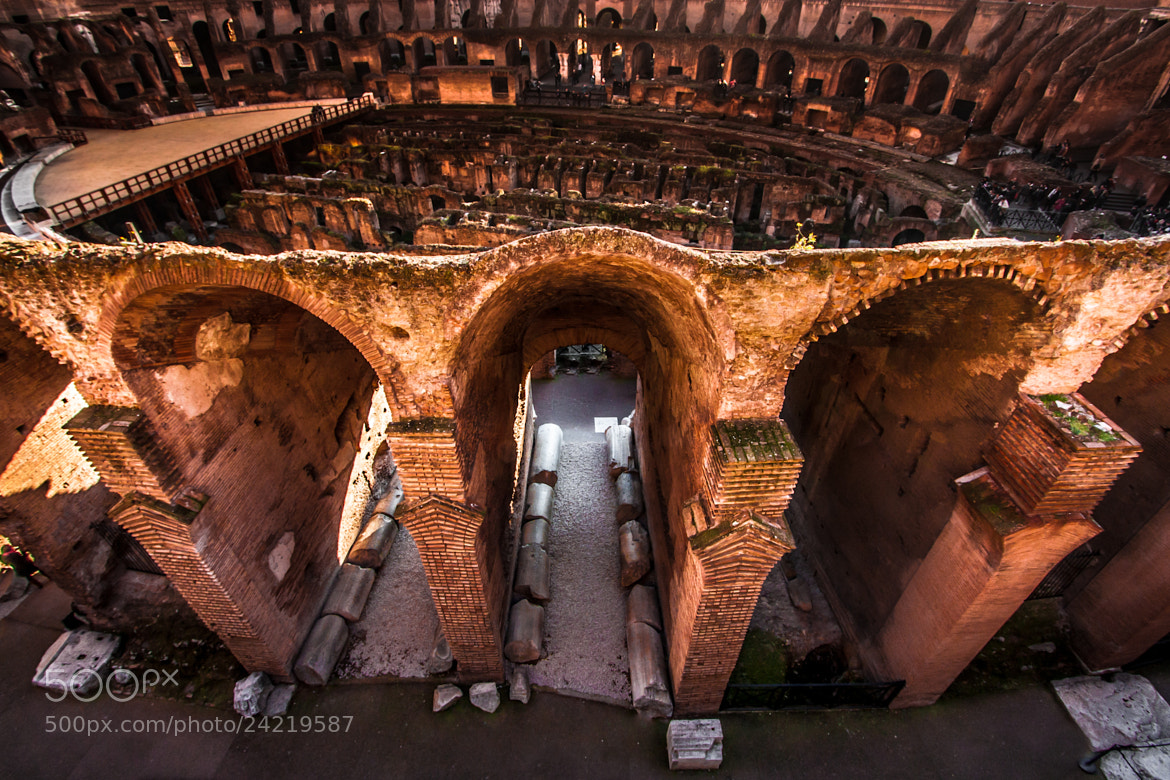Photograph Arches of Colosseo kissed by the sunlight (v2), Rome - Italy by L. G. - luigig75 on 500px