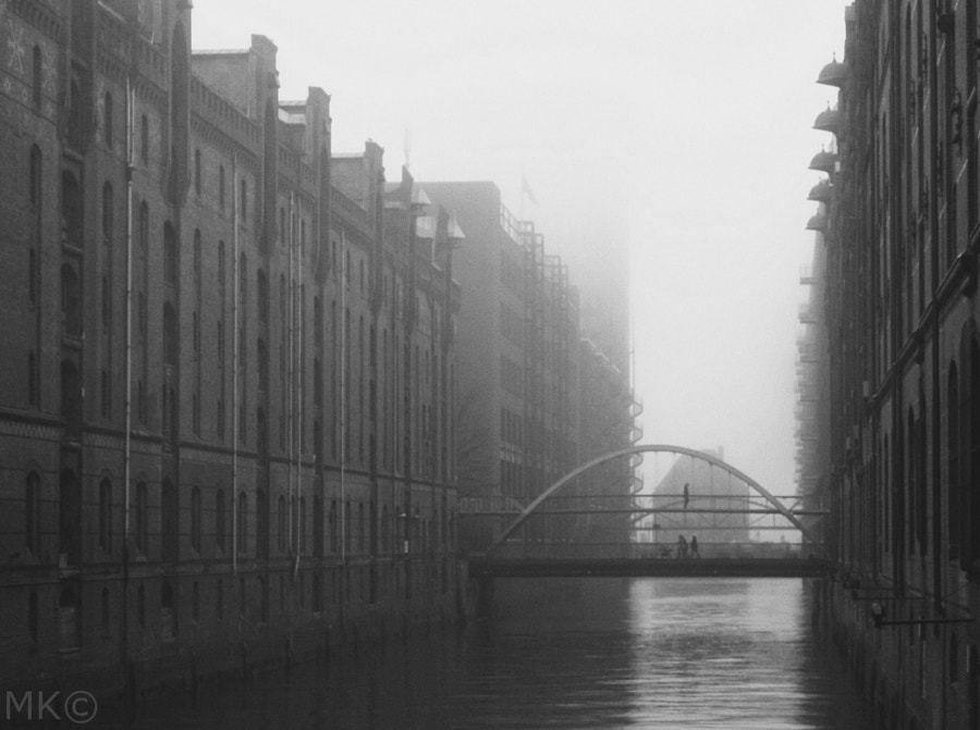 a foggy day in town