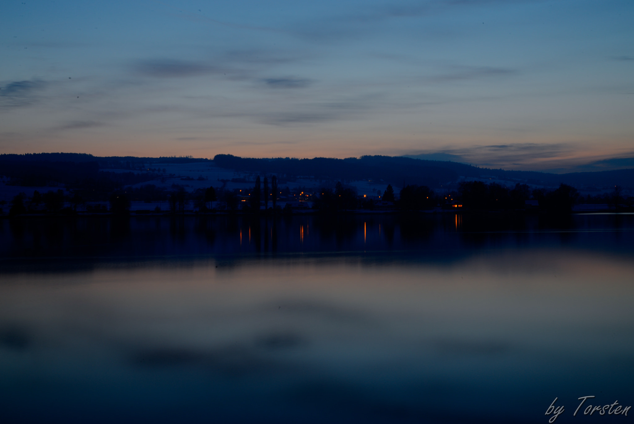Photograph Winter evening at the lake Constance by Torsten Trunz on 500px