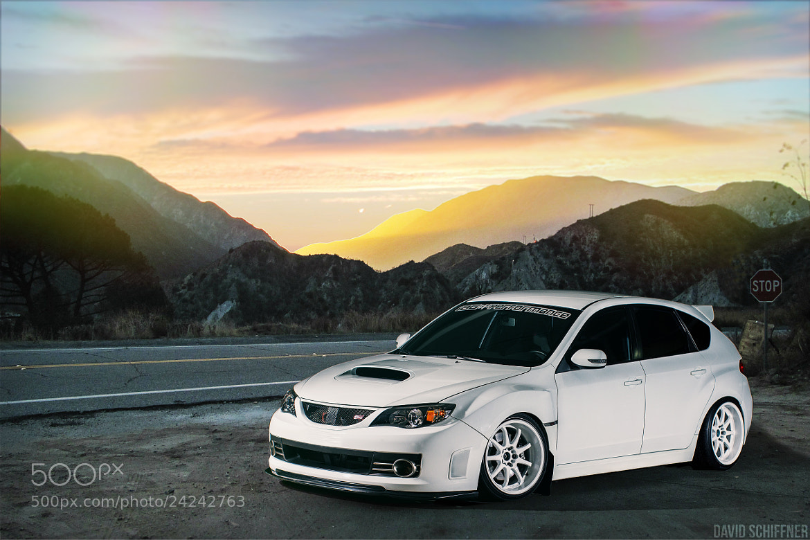 Photograph STi Sunset by David Schiffner on 500px