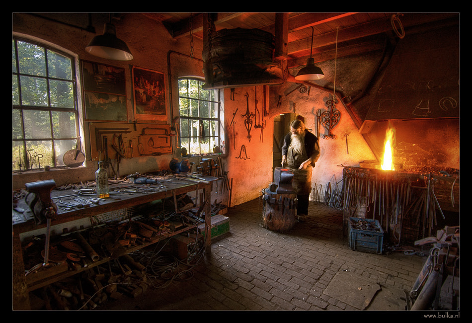 Photograph Working in the Old Dutch Smithy by Maria Netsounski on 500px