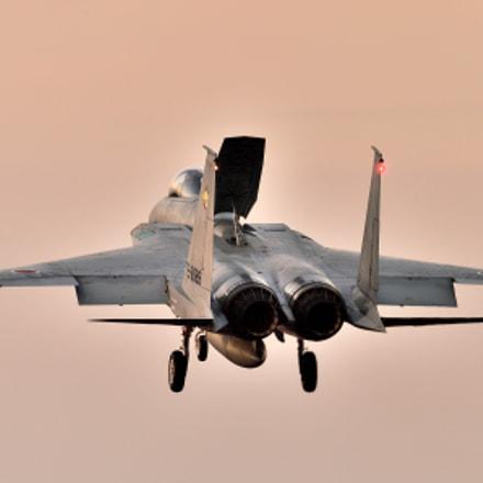 F-15J Landing, Nikon D4, AF-S Nikkor 200-500mm f/5.6E ED VR