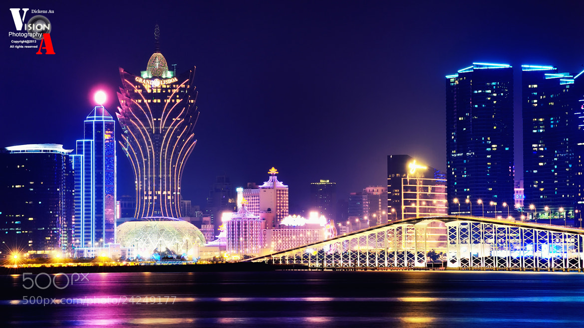 Photograph Macau night view by Dickens Au on 500px