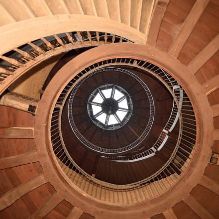 Stairs in Castle Keep, Nikon D750, AF Nikkor 20mm f/2.8D