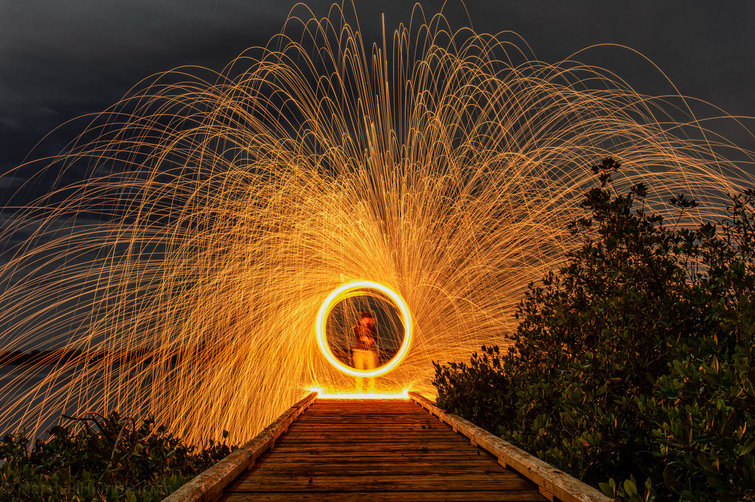 Photograph Spinning Fire by Marshall Humble on 500px