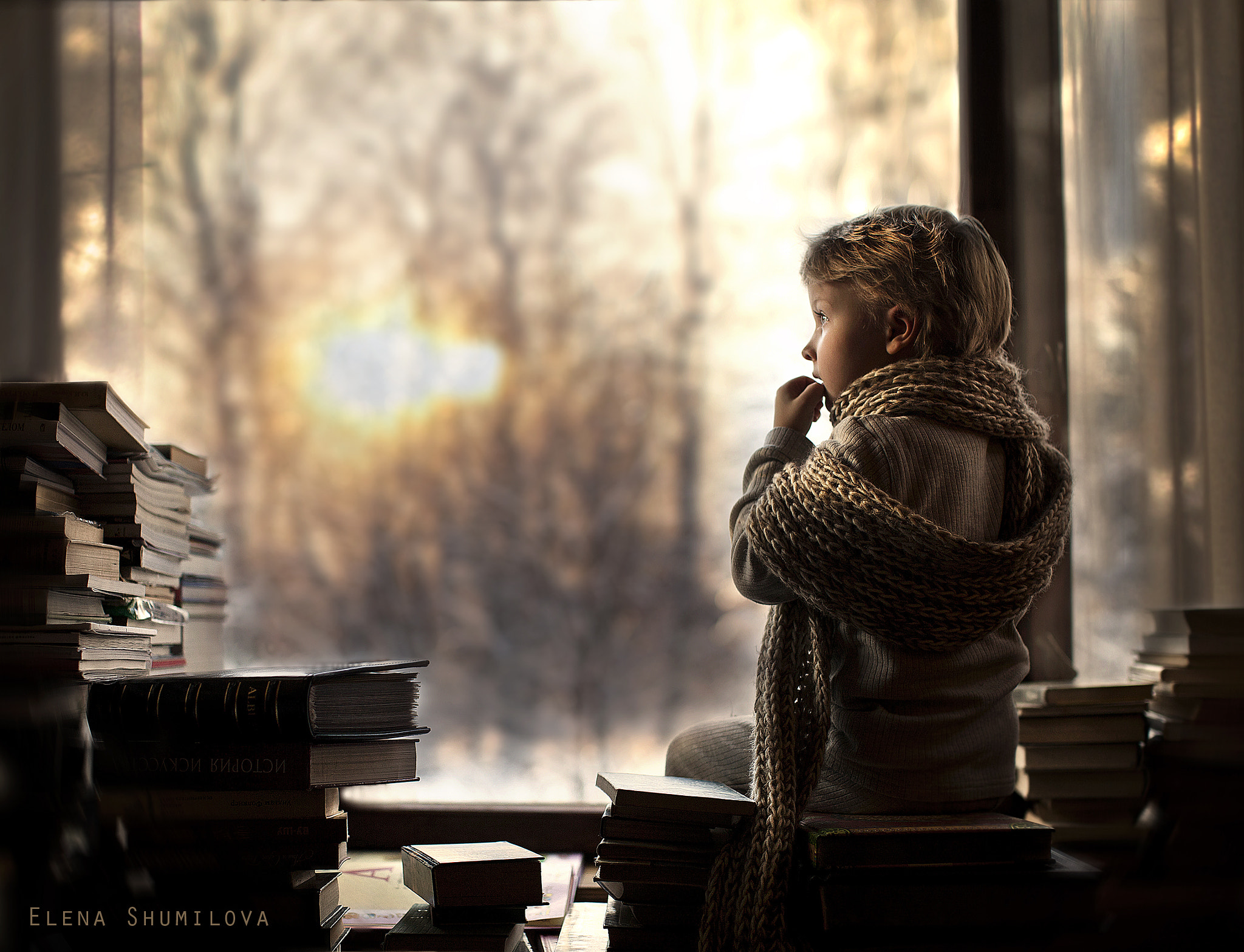 Photograph alone in the library by Elena Shumilova on 500px